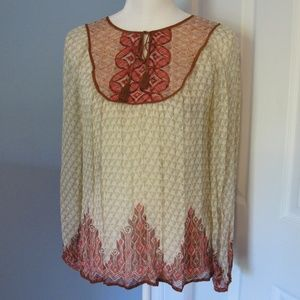 Lucky Brand long sleeve BOHO top Size - S